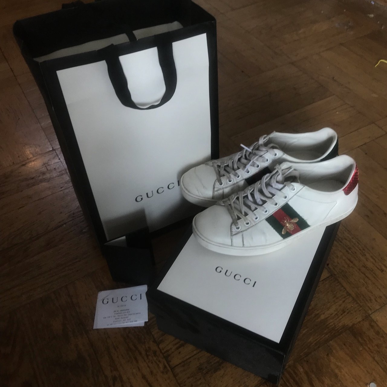 d1904867790 Gucci Ace Bee sneakers   trainers 7 10 condition. Have had a - Depop