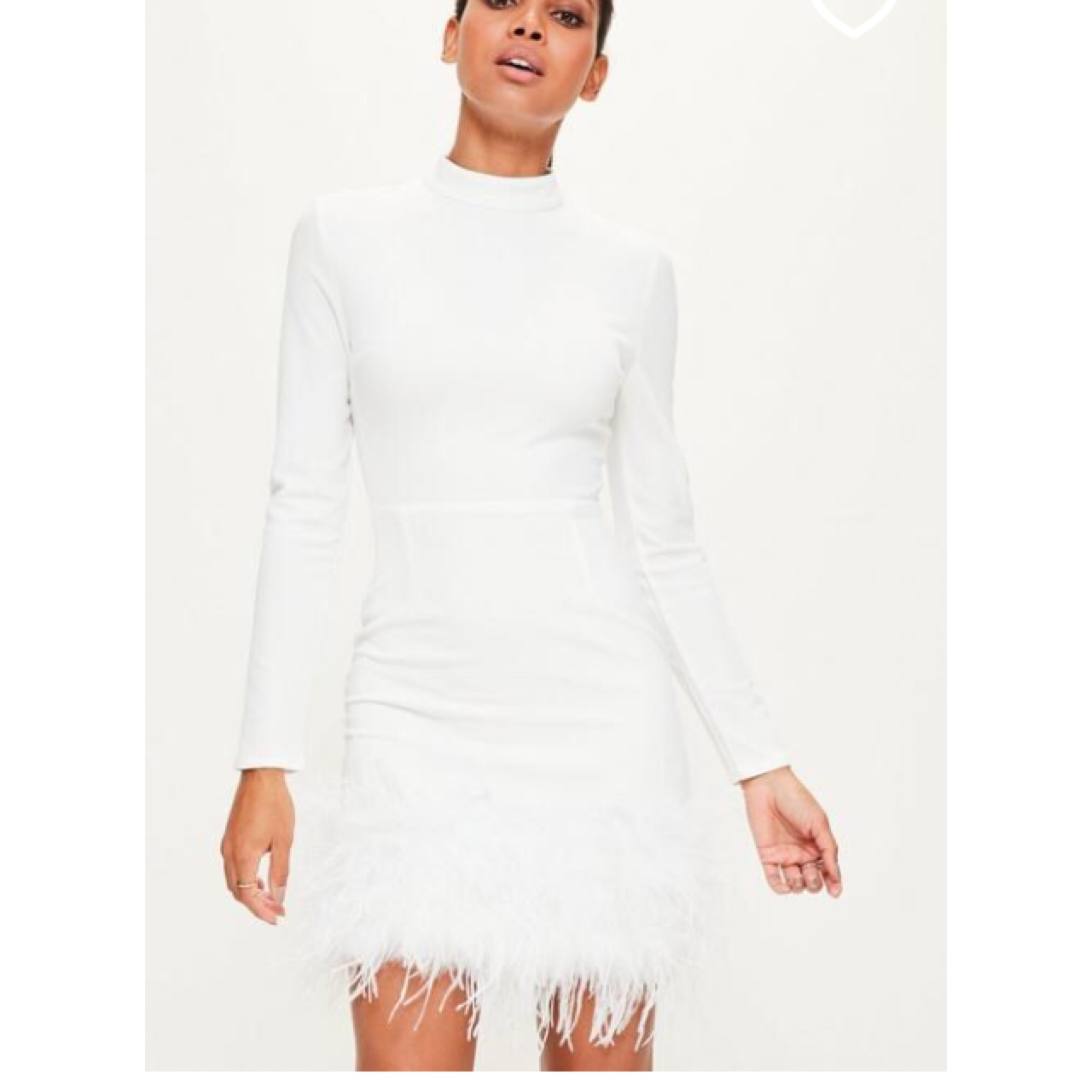 Missguided White Bodycon Dress by Depop