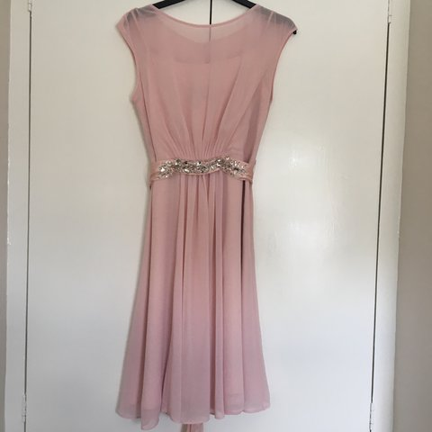 b421d1cd240f Beautiful pale pink Coast dress with embellished tie around - Depop