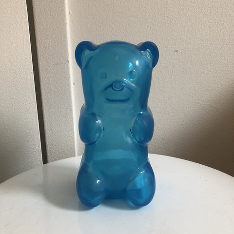 lil gummy bear night light has a hook can be mounted on the depop