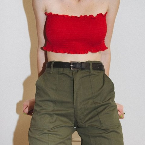6ea4b09c2e5 brandy melville kessy red tube top super cute but very for - Depop