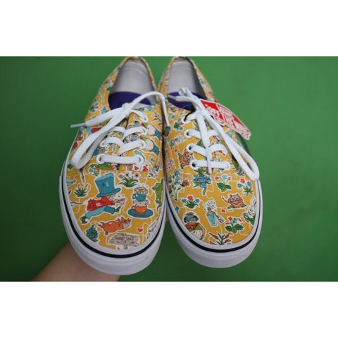 bab22666203 Vans x Liberty  Wonderland  vans. Alice in Wonderland Size - Depop