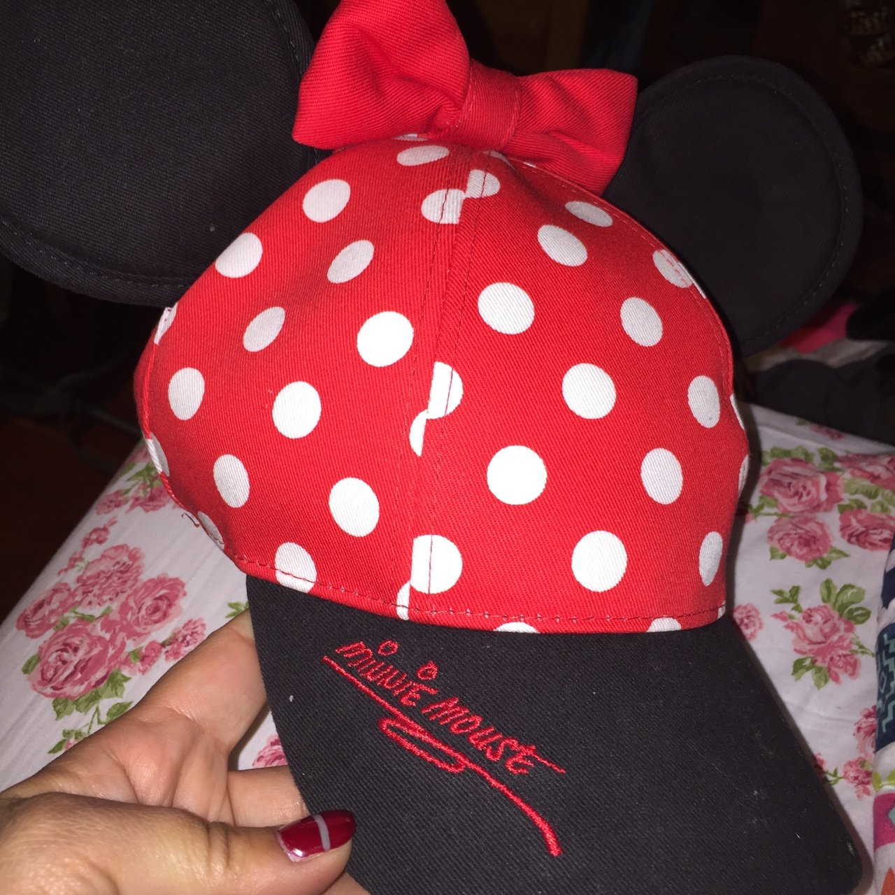 Brand new never worn Minnie mouse polka dot hat! 🐭❤ Never - Depop b739ff3d5171