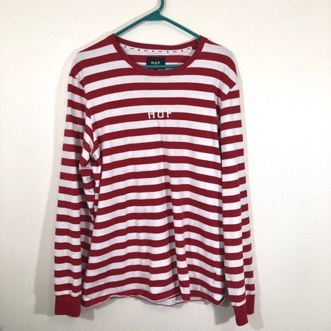1d26185362 @highlxry. 5 months ago. Milton Freewater, United States. HUF LONG SLEEVE  TEE • Red & white stripes