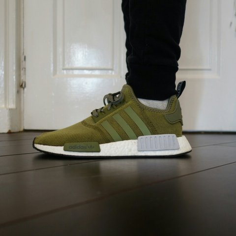 a1bd3efdc Adidas NMD R1 Olive Cargo Green European Exclusive • UK 7 • - Depop