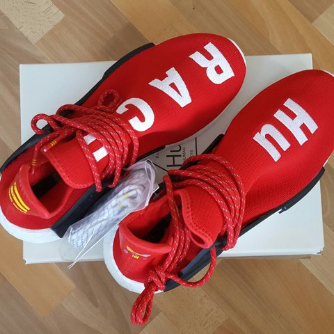 197a2ac3c Adidas Pharrell x Human race Red NMD Condition  Deadstock in - Depop