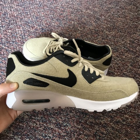 a77026bd2230 Nike Air Max 90 Ultra Premium Oatmeal Black In perfect only - Depop