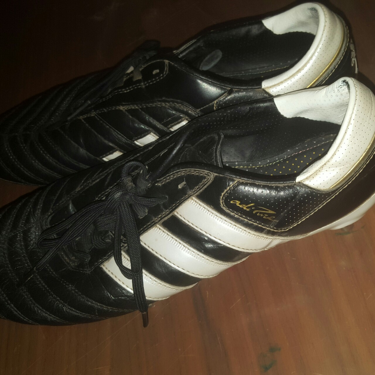 Adidas adipure size 9 football boots in great    - Depop