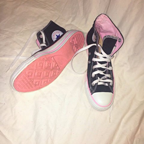 095425dcec @abbeypanda. 2 years ago. Helena, United States. BRAND NEW BUBBLEGUM PINK  HIGHTOP CONVERSE!! I love these shoes so much but I have ...