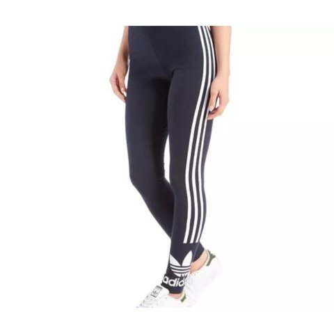7b8e59647d5 Womens adidas originals 3 stripe trefoil leggings. Size 6 - Depop