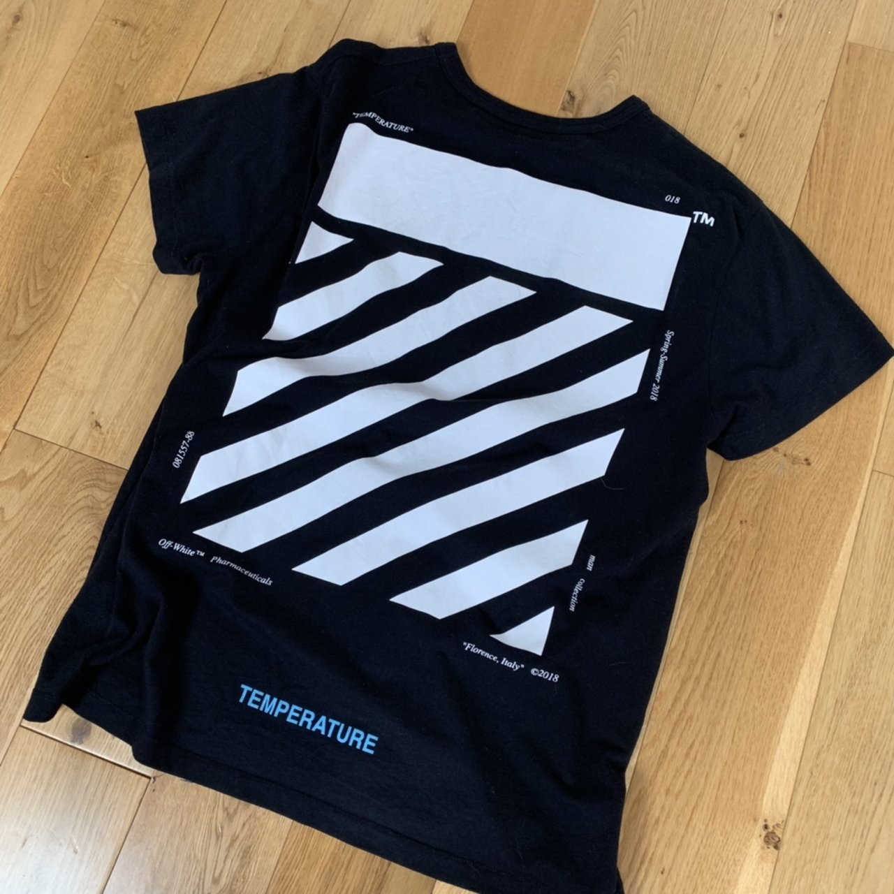6c2a6f1c58c0 Shoptagr | Off White Tee Shirt Off White Temperature Tee Size S But ...