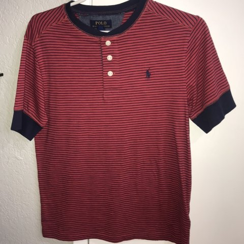 aaef9680a3d7 POLO SHIRT🔥‼ size L in kids 14-16 . Fits Small in mens - Depop