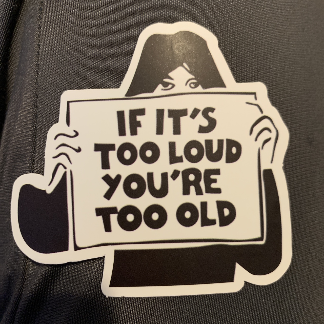 """""""If it's too loud you're too old"""" decal sticker! 1    - Depop"""