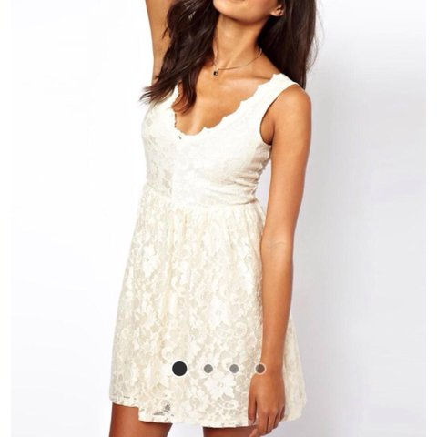 a4faa040f8b8 PRICE DROP White Cream Lace Skater Dress from ASOS
