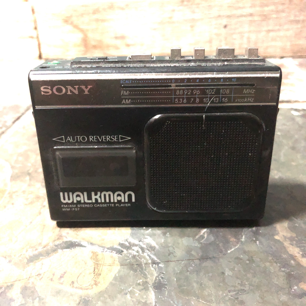 Sony WM F57 Walkman cassette player  Works fine and