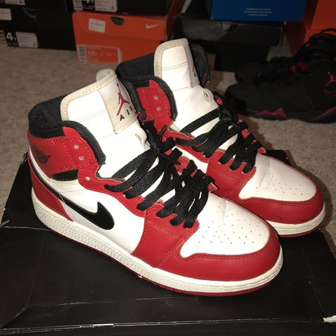 60725f03433770 Air Jordan Chicago 1s. Size 5 great condition. - Depop