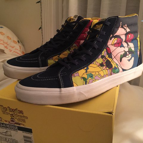 b2819e7665 Vans x The Beatles Sk8-Hi Size 11 Worn once. Feel free to an - Depop