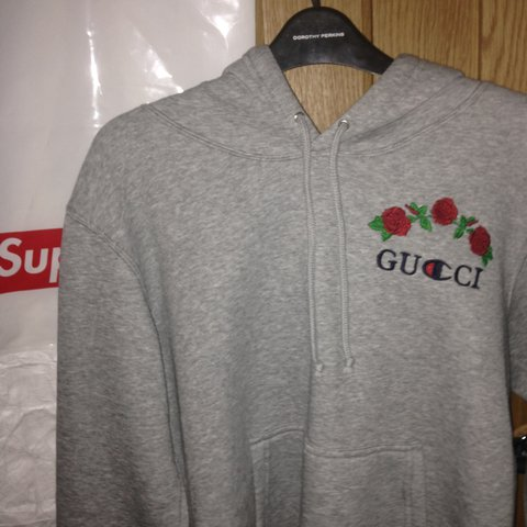 a2aff9416c2 Elskede Ava Nouri custom Gucci x champion hoodie. Very rare only me - Depop  OR68