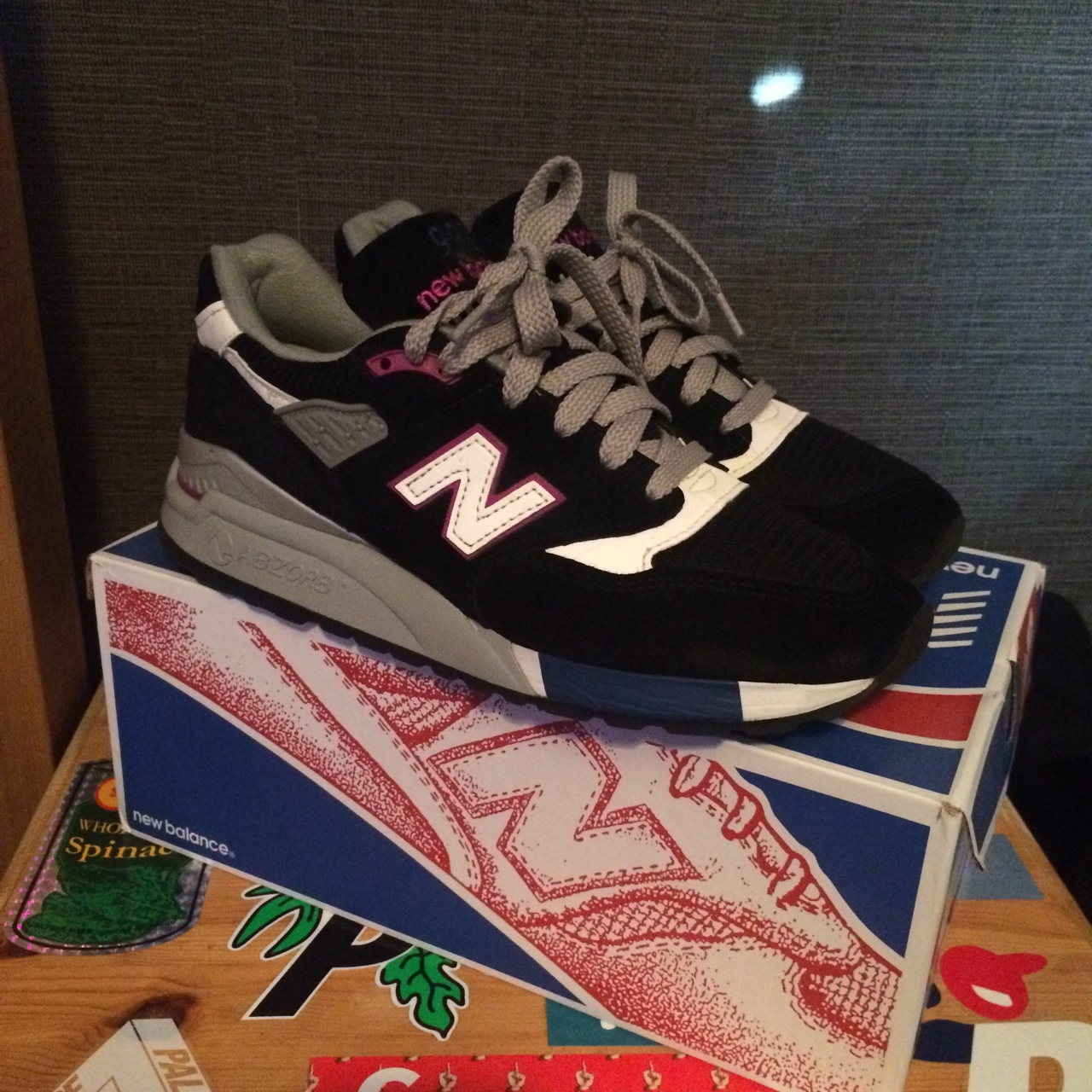 best sneakers 35796 47559 New Balance 998BK (With OG box) - Navy white and... - Depop