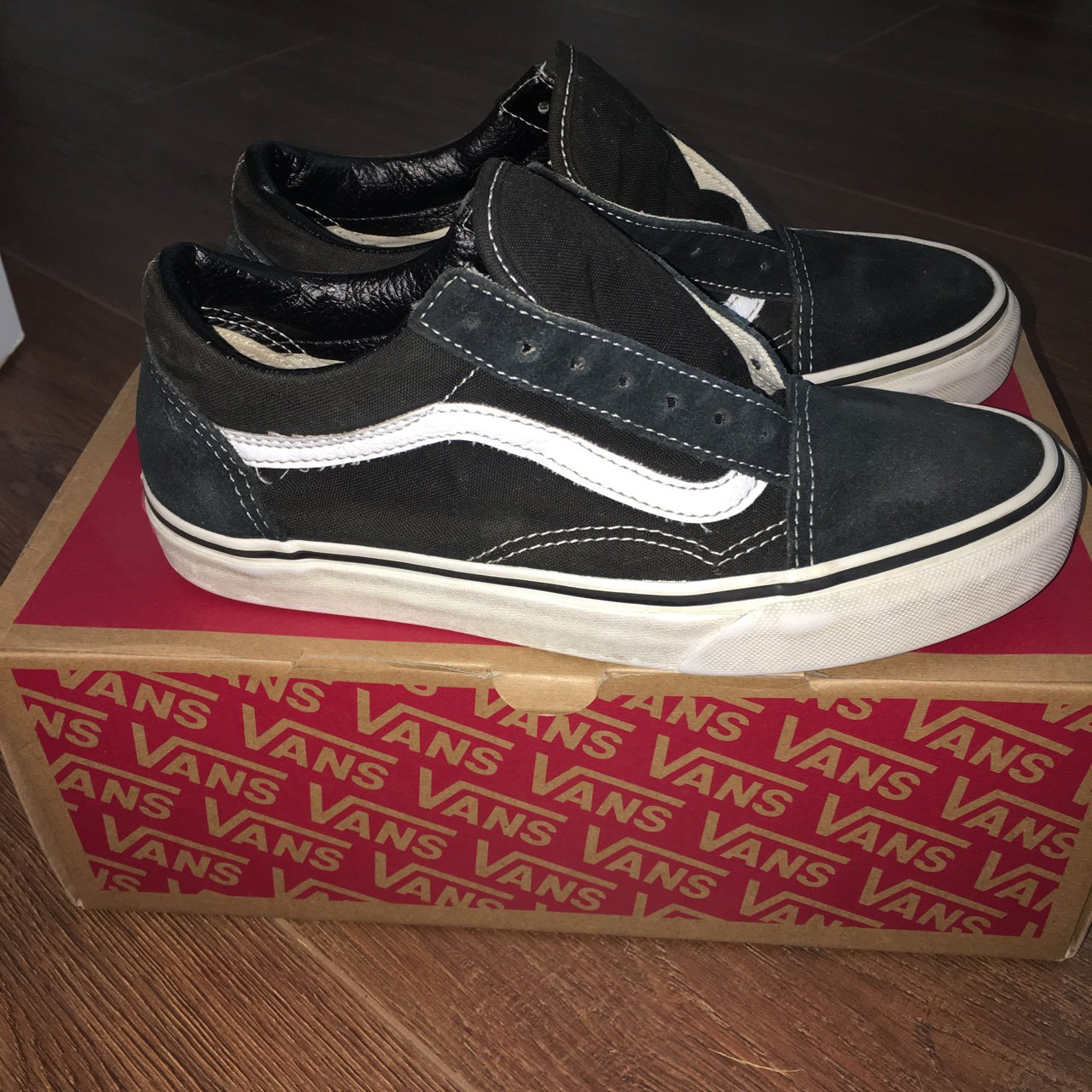 33d014753e Old Skool Vans - size 5.5 in men s   7 in women s. - good I - Depop