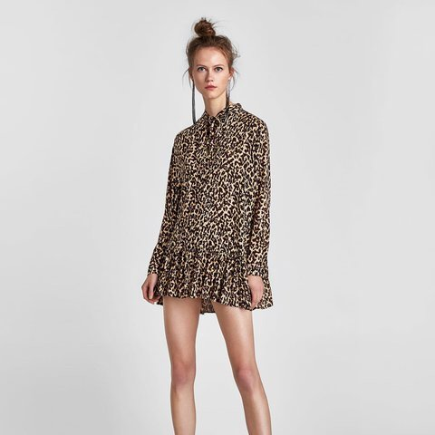 05540b380a19 @loisah. 2 days ago. Bournemouth, United Kingdom. Zara summer leopard print  dress ...