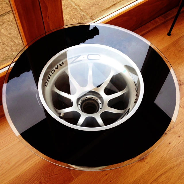 Remarkable Genuine Gp3 Racing Car Wheel Coffee Table The Depop Gamerscity Chair Design For Home Gamerscityorg