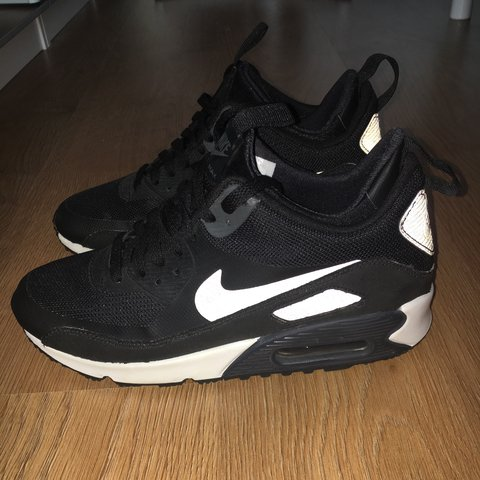 the latest da251 73835  lucet94. 3 years ago. Bristol, UK. Black and white Nike air max 90  sneakerboot ...
