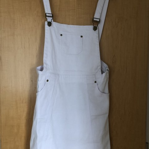 34766bc2299 PLT - White Pinafore dress - NEW with tags - Size 10 - Price - Depop