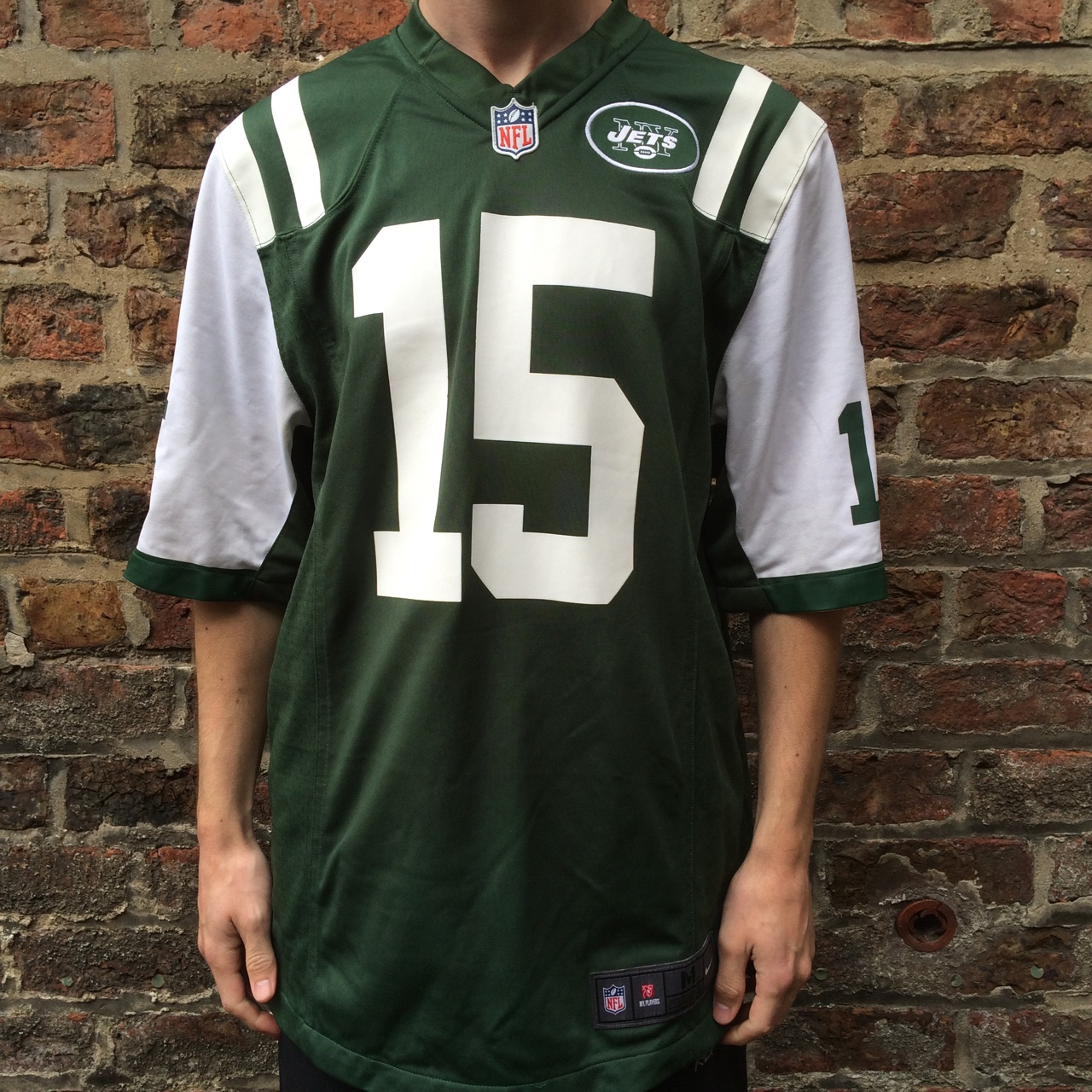 official photos 9c3fb 620d4 New York NY Jets jersey with number 15 Tim Tebow on ...