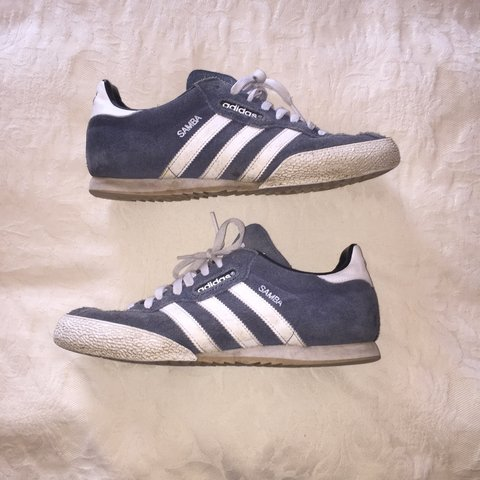 266e92343 @harris_leah. 3 years ago. Stockport, UK. Mens ADIDAS SAMBA blue with gum  soles. Size 8 and great ...