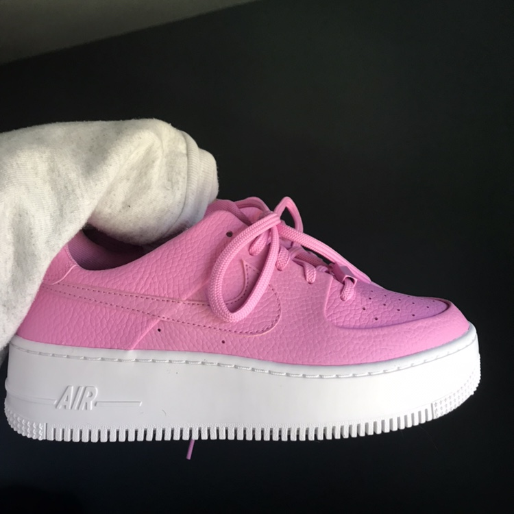 ON HOLD BRAND NEW Pink Nike Air Force 1 Sage Low Depop