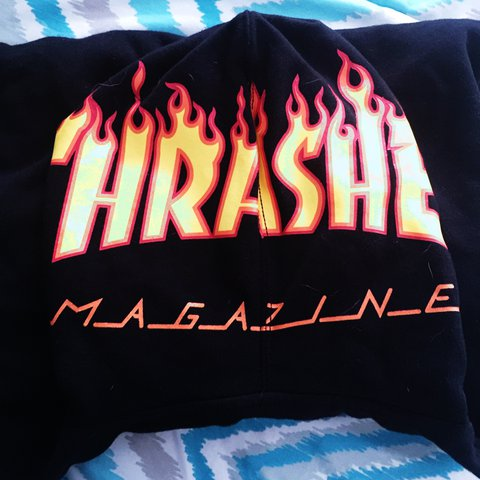 89168f595837ee Thrasher Magazine Hoodie from the brand Vans It fits like a - Depop