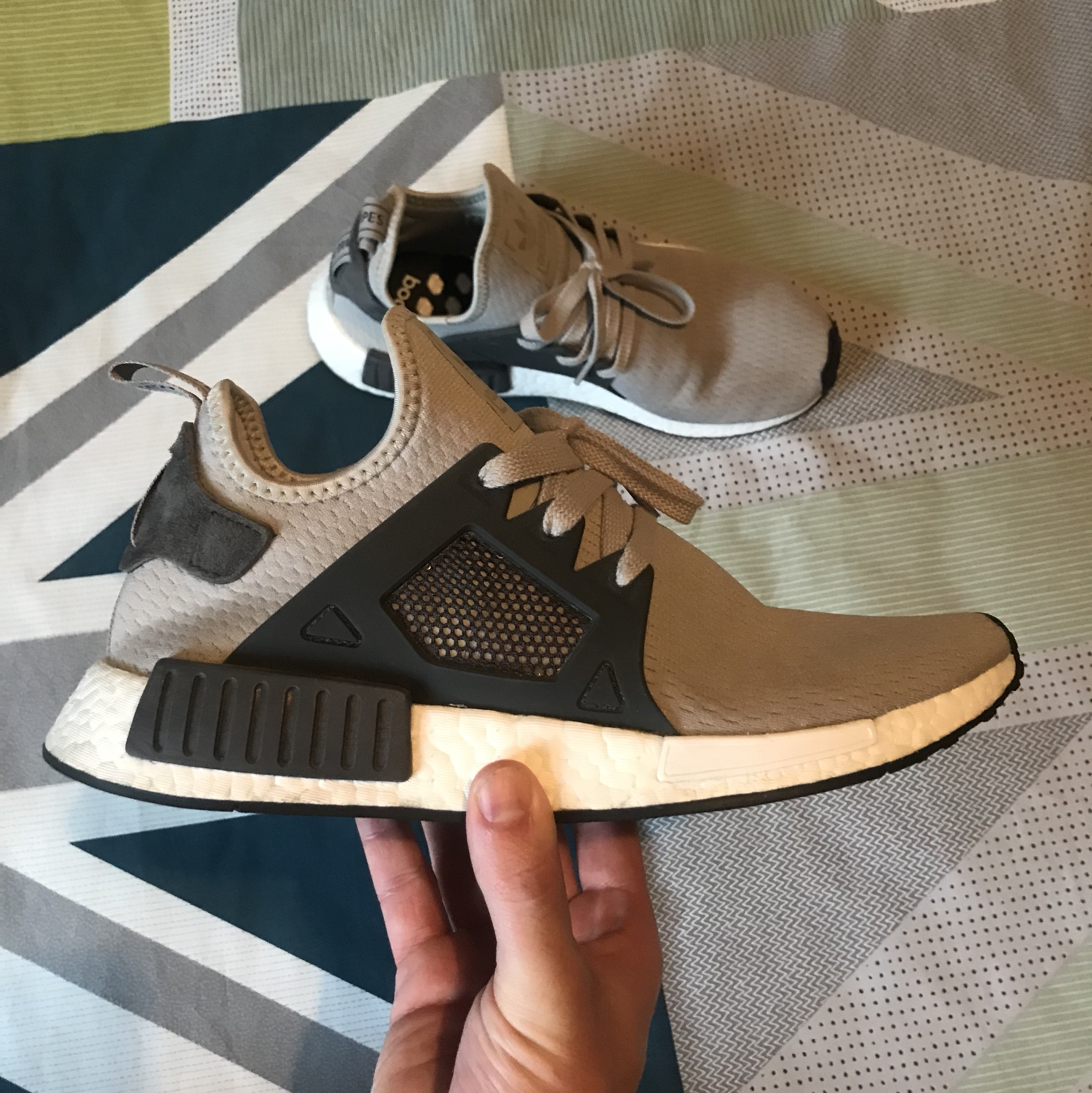 adidas NMD XR1 shoes grey red Stylefile