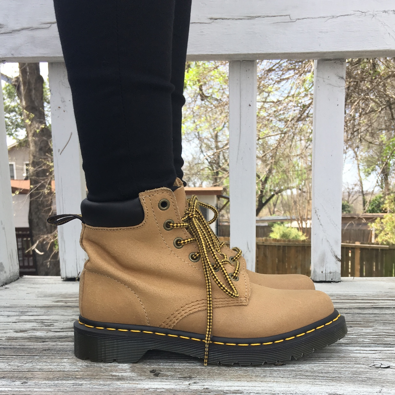 332c04172b7 Dr. Martens 939 6-Eye Hiker Boot in Khaki Suede.... - Depop