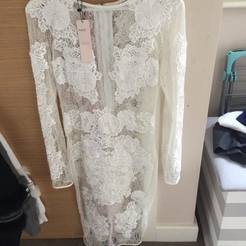 White Lace Dress Celeb Boutique Brand New With Tags Depop