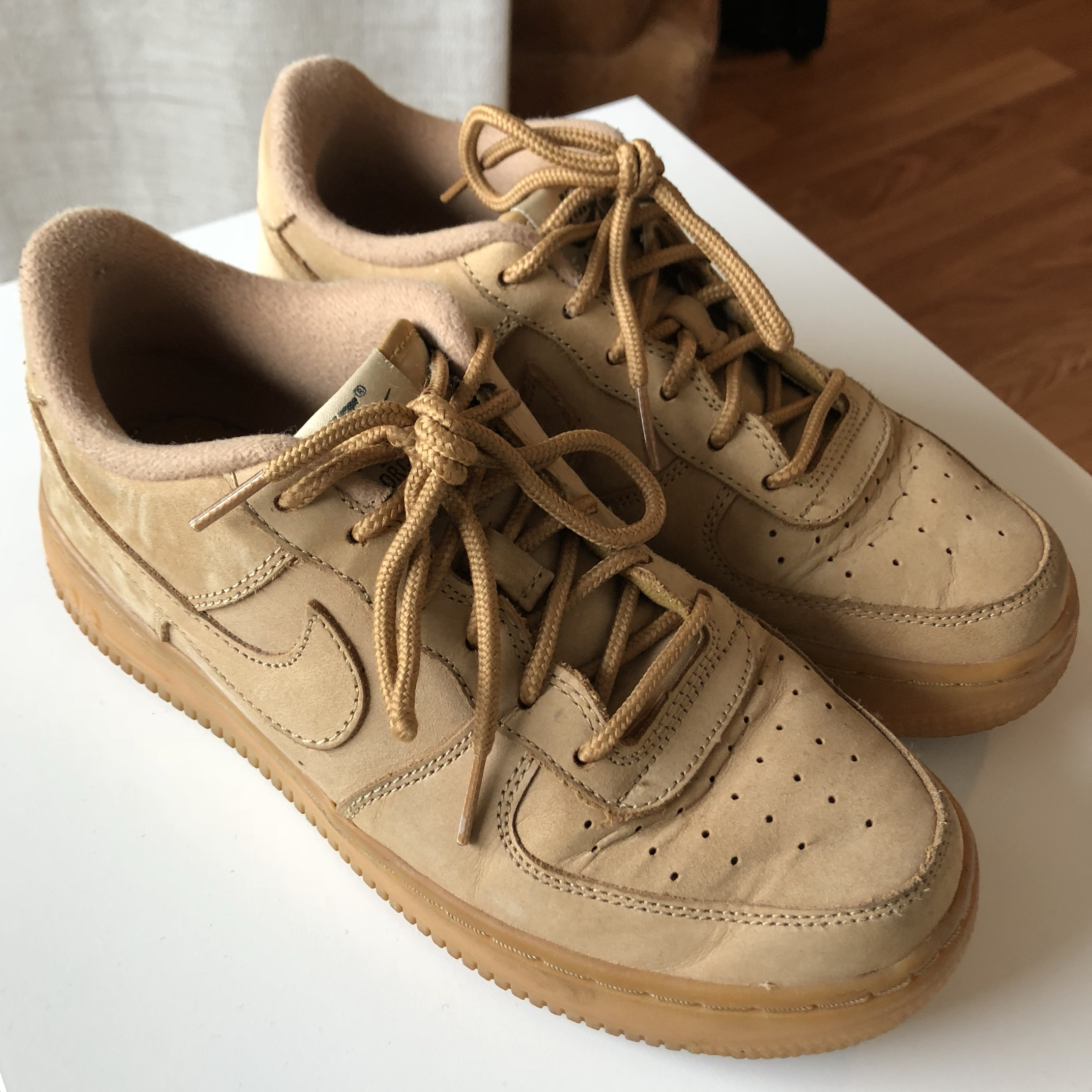 pas cher pour réduction c675b 1b3de Nike Air Force 1 camel / wheat / brown - condition... - Depop