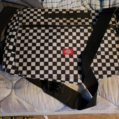 Dickies checkered messenger bag. Great condition(not a will - Depop 8256ded604424