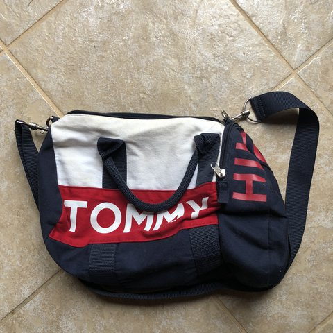 82e994126e Vintage Tommy Hilfiger mini duffle bag🔥Excellent used a few - Depop
