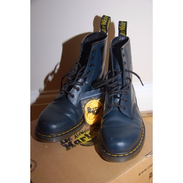 049bf0c2bb Navy Blue Dr Martens 1460 for sale. (Worn a few times). Size - Depop
