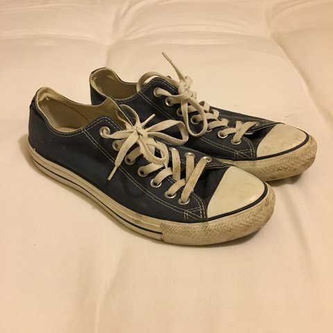 a6ff82175d0d Converse All Stars Low Top Blue Good condition although of - Depop