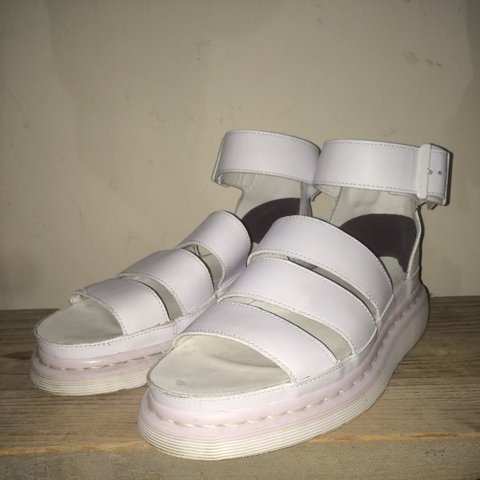 aae2d19a7eca Doc Martens white Clarissa sandals    Grey sponge insoles on - Depop