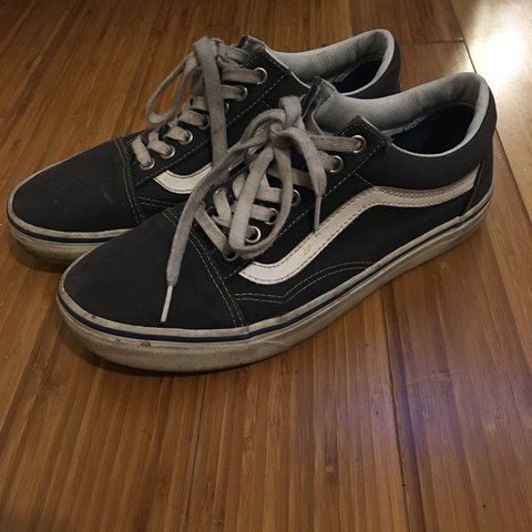 Navy blue old skool vans. Women s size 9 . Worn and loved a - Depop 6ce0acfce