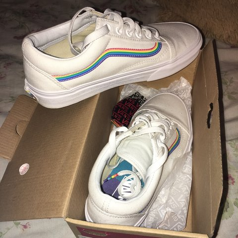 bb136a0ed61 VERY cute rainbow vans for if you re try it show your pride - Depop