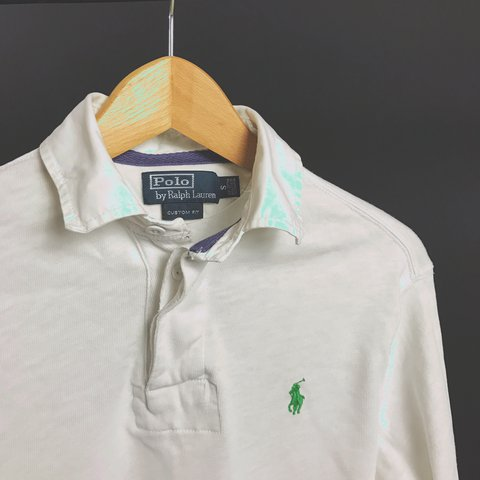 e8509482 @tomhambridge. 2 years ago. Bristol, United Kingdom. Ralph Lauren long  sleeve polo. White. Custom fit.