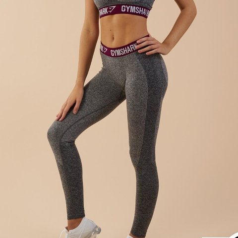 5324f6f8771b4 Brand new Gymshark flex leggings Grey and plum Size S Never - Depop