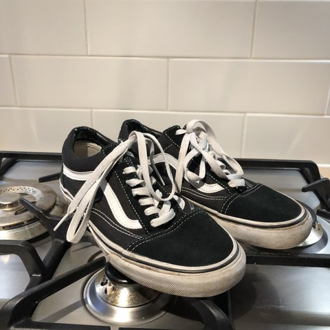 ccfcacd56c Vans old skool black trainers   old school style   used but - Depop