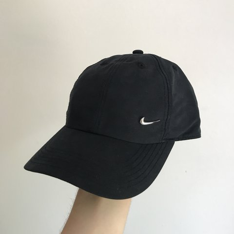 cc1170d17b7 Nike cap   hat black with silver tick 🔥 size small Brand - - Depop