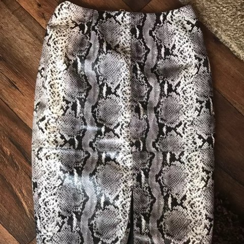 1e32faa663ef79 @crystalhastler. 2 years ago. Hertfordshire, United Kingdom. River Island snake  print pencil Skirt leather look ...