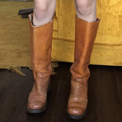 dee543b4b6d Vintage 70 s knee high canvas boots. These are my staple
