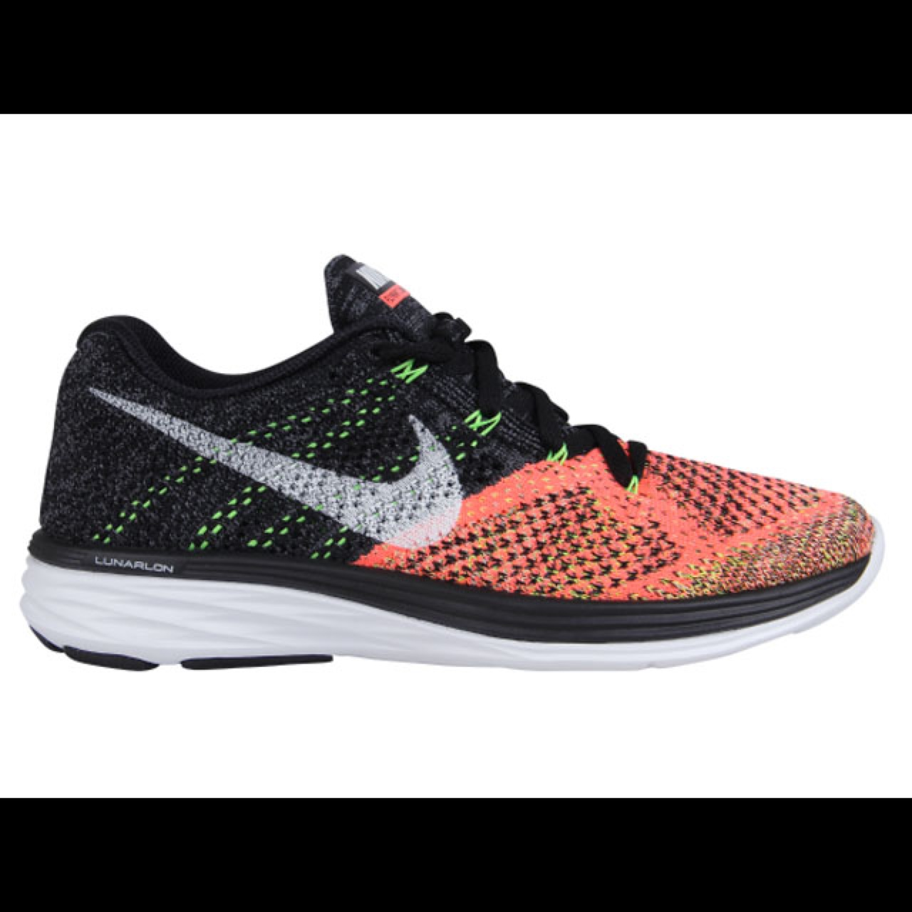 outlet store e25bd 77c59 Nike Flyknit Lunar 3 UK 4 EUR 37.5 Black/White-Hot... - Depop